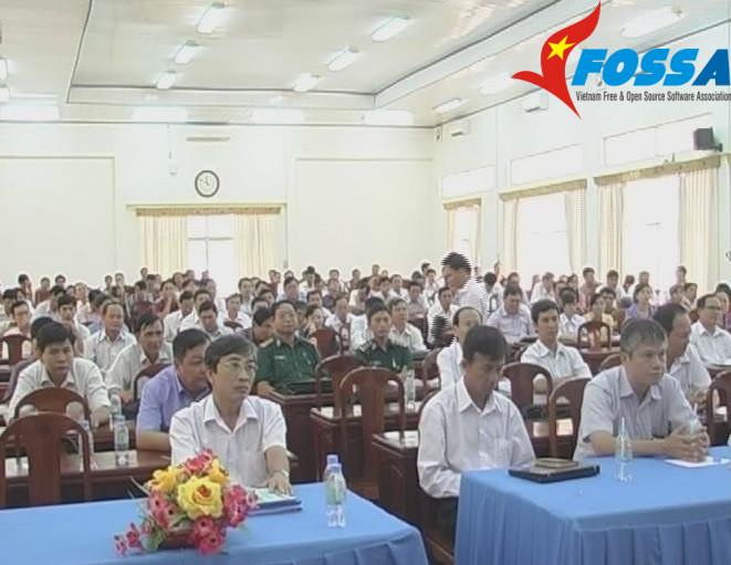 Quang cảnh hội nghị tập huấn tại Hội trường Tỉnh ủy Trà Vinh (Ảnh: Nhất Hoàng - Truyền hình Trà Vinh)