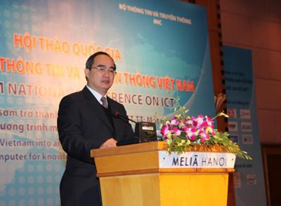 Phó Thủ tướng Nguyễn Thiện Nhân phát biểu tại Hội thảo- Ảnh: Chinhphu.vn