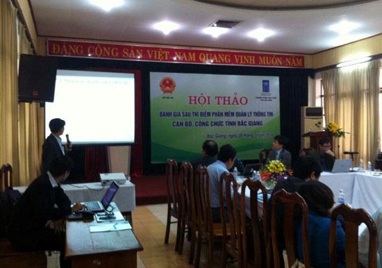 Phần mềm quản lý thông tin cán bộ công chức viên chức đã được ứng dụng tại nhiều cơ quan của tỉnh Bắc Giang