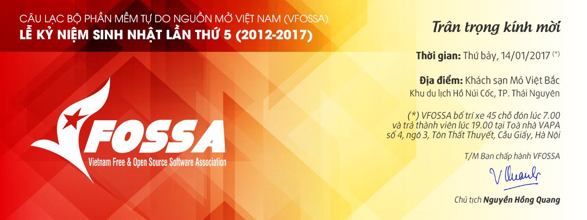 Chương trình sinh nhật VFOSSA lần thứ 5