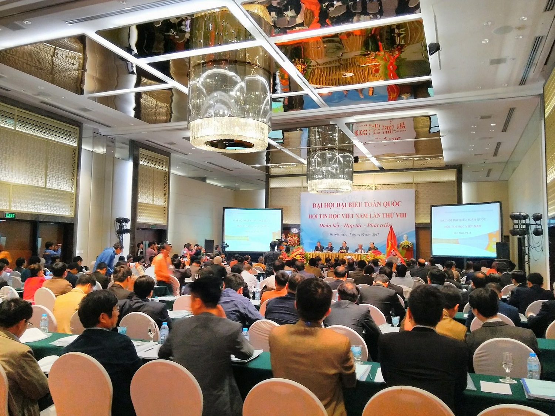 Phó thủ tướng Vũ Đức Đam tham dự và phát biểu ý kiến tại Đại hội đại biểu toàn quốc Hội tin học Việt Nam lần thứ VIII