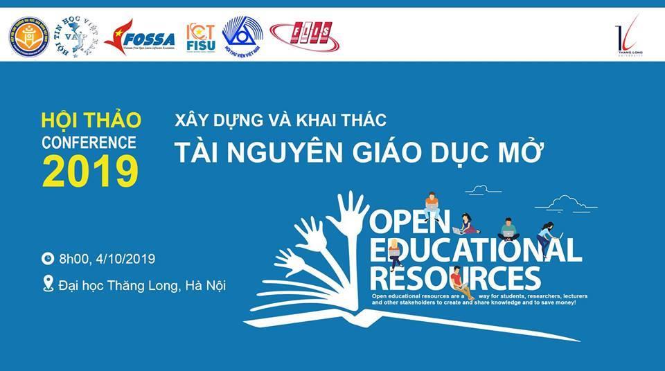 """Hội thảo """"Xây dựng và khai thác tài nguyên giáo dục mở"""" tổ chức tại Hà Nội ngày 4/10/2019"""