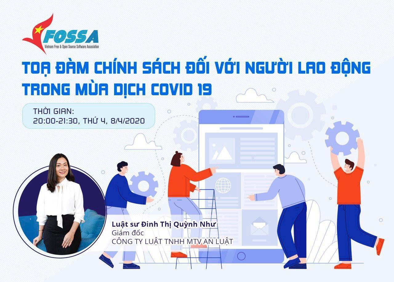 Tọa đàm VFOSSA 08 04 2020 Chính sách với người lao động mùa COVID
