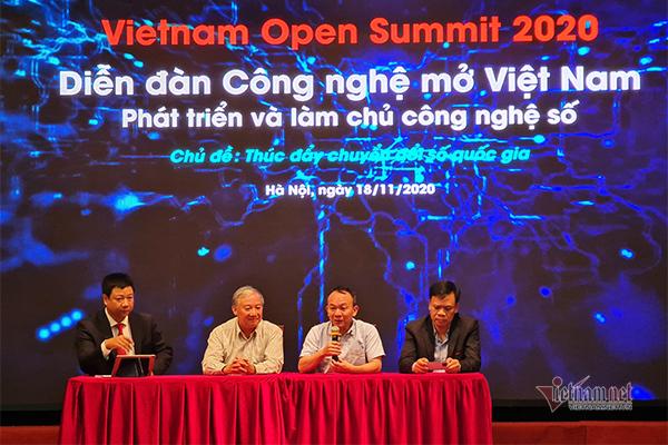 Diễn đàn Công nghệ mở Việt Nam 2020 (Vietnam Open Summit) lần thứ nhất diễn ra thành công. Nguồn ảnh: Trọng Đạt - VietNamNet