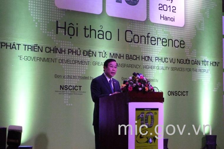 Bộ trưởng Nguyễn Bắc Son phát biểu khai mạc Hội nghị